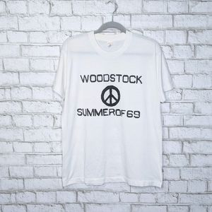 Vintage Woodstock Since Stitch Peace Rare T-shirt
